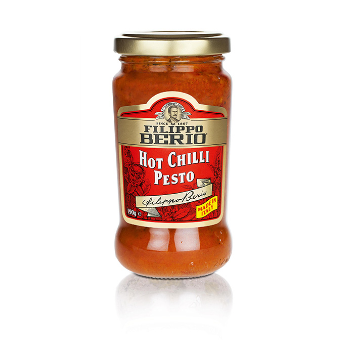 Filippo-Berio-Pesto-paradicsom-hot-chili-190g